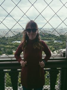 """""""Me at the Eiffel tower. 02/07/16 - my real birthday."""""""